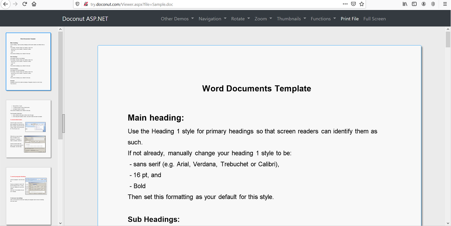 Online Document Viewer Library For ASP NET MVC